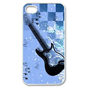 Unique Phone Case Pattern 4Love Guitar Pattern- For Iphone 4 4S case cover