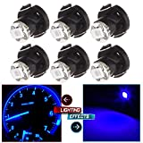 CCIYU 6 Pack Blue T4/T4.2 Neo Wedge 1-SMD LED A/C Climate Heater Control Light Lamp for 1998-2010 Honda Accord/ Odyssey