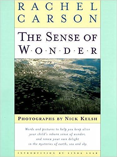 rachel carson essay the sense of wonder