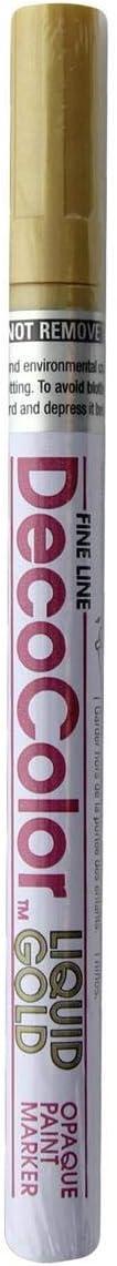 Wholesale CASE of 25 – Uchida DecoColor Fine Pointペイントmarkers-paintマーカー、細かい点、ゴールド