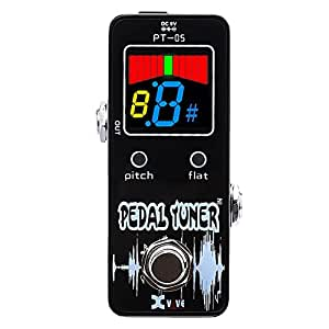 xvive pt 05 mini pedal tuner for guitar bass chromatic with rechargable. Black Bedroom Furniture Sets. Home Design Ideas