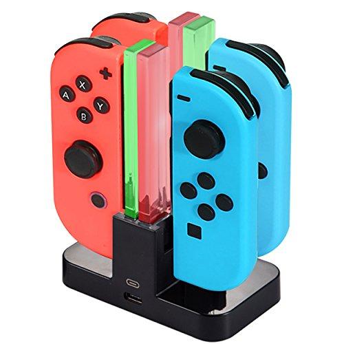 Diyife Oplaadstation voor Nintendo Switch [4 in 1 Joy-Con], Joy-Con Laadstation, Joy-Con Controller Oplader, Oplaaddock…
