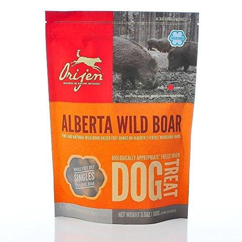 Orijen Alberta Wild Boar Singles Freeze-dried Dog Treats, 3.5-oz Bag (Pack of 6) by Orijen