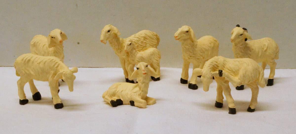 Schafe 7 teilig Handbemalt für 10-13 cm Krippenfiguren Krippenbaustudio Böhner