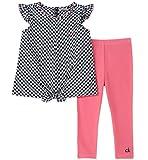 Calvin Klein Girls' Little Tunic Set, Black