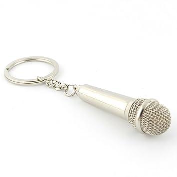 FTYHFGHFG Micrófono Musical Keychian,Música Amante Rock ...