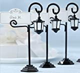 Dedoot Table Number Holder, European Style Creative Street Lamp Wedding Table Place Card Holders for Business, Parties, Place Name, Food Signs and Special Event Decoration, Pack of 6