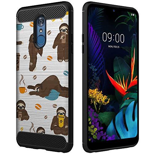 (OmyBloom Premium Case Compatible with LG Aristo 2 / LG Aristo 3 / LG Rebel 3 [Ultra-Flexible & Lightweight] Sloths Espresso Phone Case - Coffee Sloth Spirit Animal)