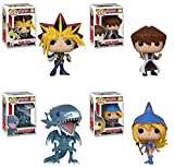 POP Animation: Yu-Gi-Oh! Yami Yugi and Seto Kaiba, Blue-Eyes White Dragon, Dark Magician Girl Vinyl Figures Set