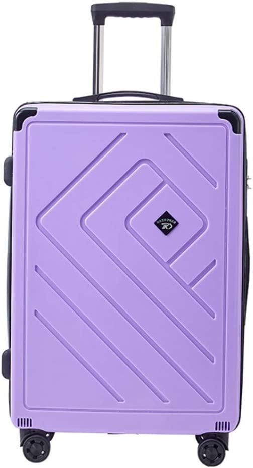 Runtongshanghang New Trolley Case Gift Suitcase Male and Female Password Universal Wheel Suitcase Color : Purple