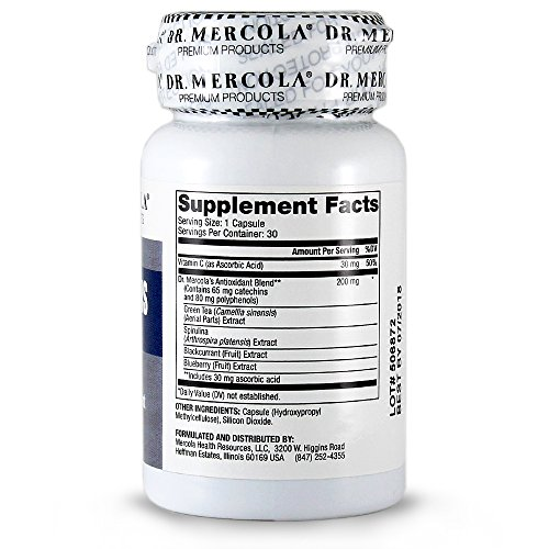 Dr Mercola Catechins - 30 Capsules - 65mg Catechins 80mg Polyphenols per Serving - Packed With Antioxidants - Premium Dietary Supplement Discount