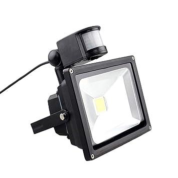 OSALADI Proyector LED con luz de inundación de inducción de 20W ...