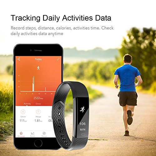 Fitness Tracker, bossblue Smart Fitness Watch Touch Screen Activity Health Tracker Wearable Pedometer Smart Wristband Pink
