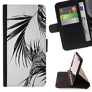 For Sony Xperia M5 E5603 E5606 E5653 Case , Hojas de palma Negro Blanco Miami California- la tarjeta de Crédito Slots PU Funda de cuero Monedero caso cubierta de piel