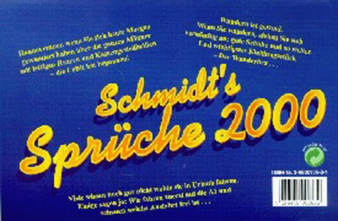 Kalender, Die Harald Schmidt Show, Schmidt's Sprüche