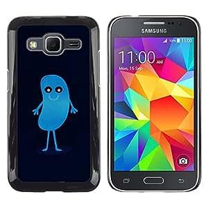 Caucho caso de Shell duro de la cubierta de accesorios de protección BY RAYDREAMMM - Samsung Galaxy Core Prime - HABA AZUL LINDO