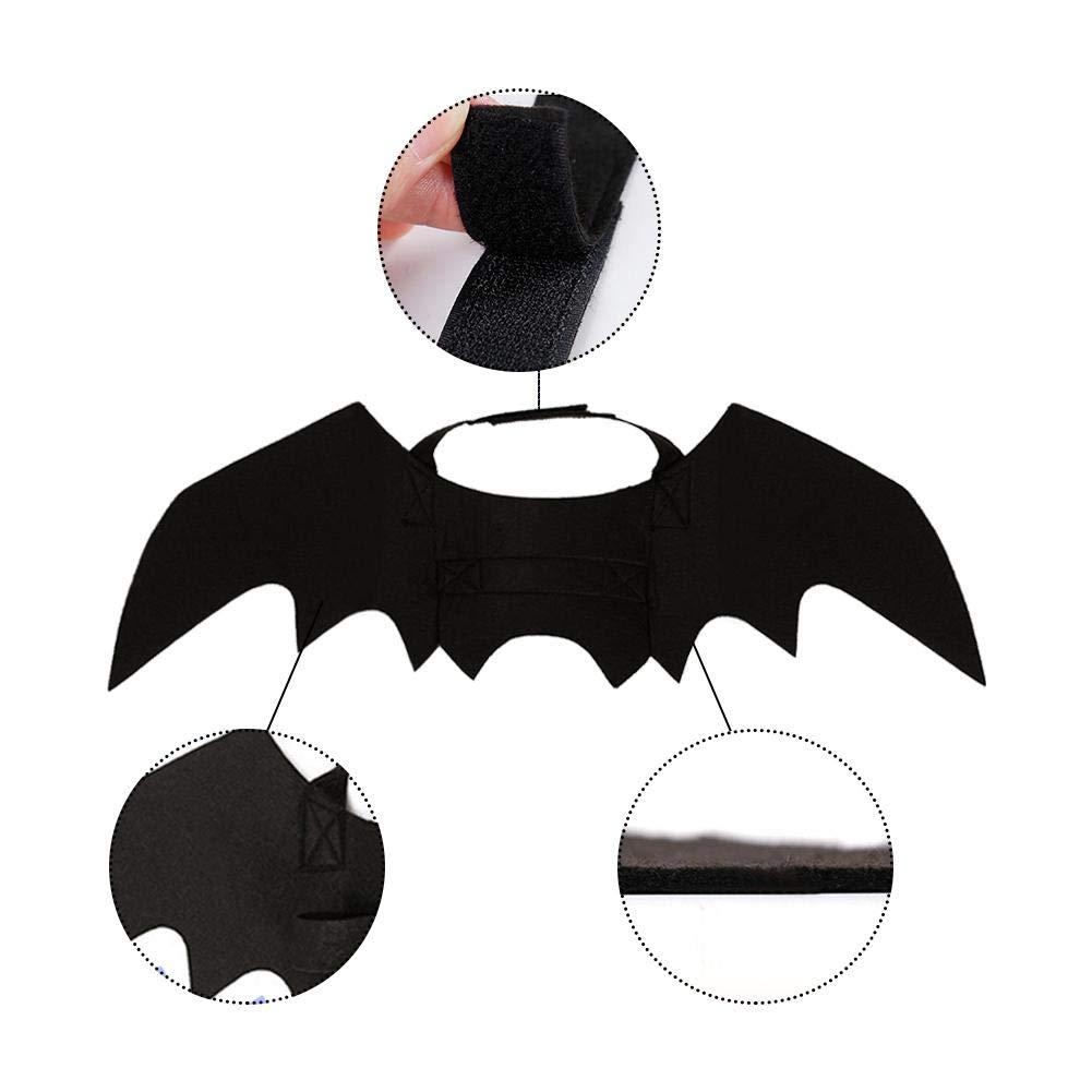 Amazon.com : Topaty Halloween Pet Bat Wings Black Cool Puppy Cat Black Bats Dress Up Costume : Pet Supplies