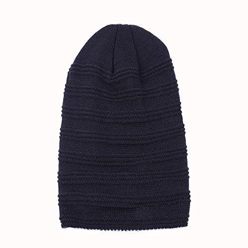 Soft blue marino Thick Daily aire azul Fold esquí gorras Lined Knitting navy Mens al cap libre Warm Winter de wqgU51c