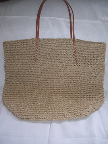 Merona Women's Solid Packable Straw Tote