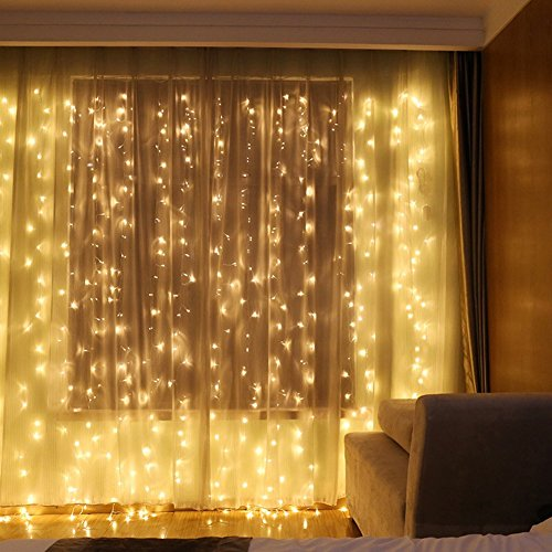 We Install Fairy Lights: YULIANG Led Curtain Lights 300led 3m3m/9.8Ft9.8Ft