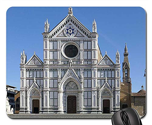 Mouse Pads - Santa Croce Basilica Florence Italy Cathedral