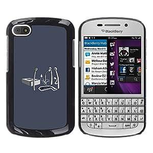 Be Good Phone Accessory // Dura Cáscara cubierta Protectora Caso Carcasa Funda de Protección para BlackBerry Q10 // Matches Life Fire Ending