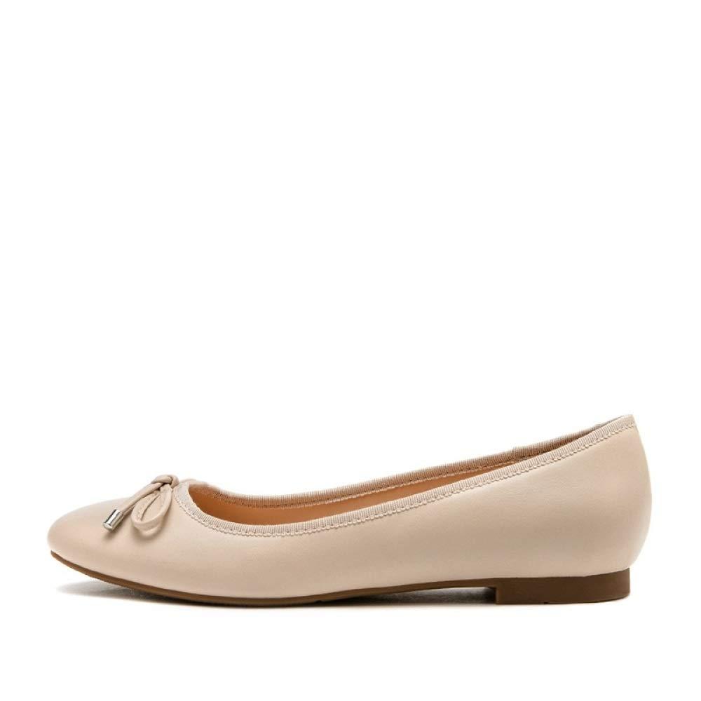WFL WFL WFL Le scarpe sveglie delle signore sveglie di autunno dell'aria calda piegano le scarpe casuali capi della testa rotonda,Albicocca,36  Albicocca 74401d