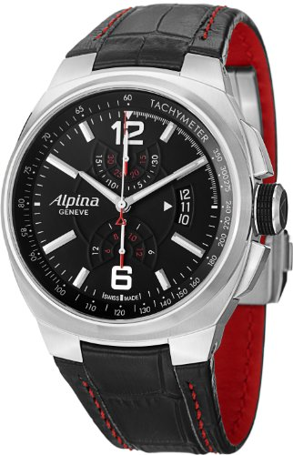 Alpina Men's AL725AB5AR26 Analog Display Swiss Automatic Black Watch