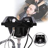 LAZYMOON Plastic ABS Shampoo Hair Sink Bowl Wall Mounted Beauty Salon Barber Hair Basin Equipment