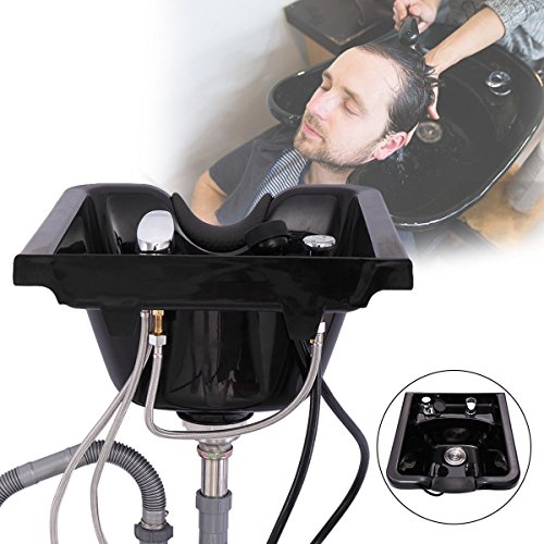 LAZYMOON Plastic ABS Shampoo Hair Sink Bowl Wall Mounted Beauty Salon Barber Hair Basin Equipment by LAZYMOON