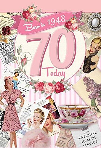 70th Birthday Card 1948 Year You Were Born Female
