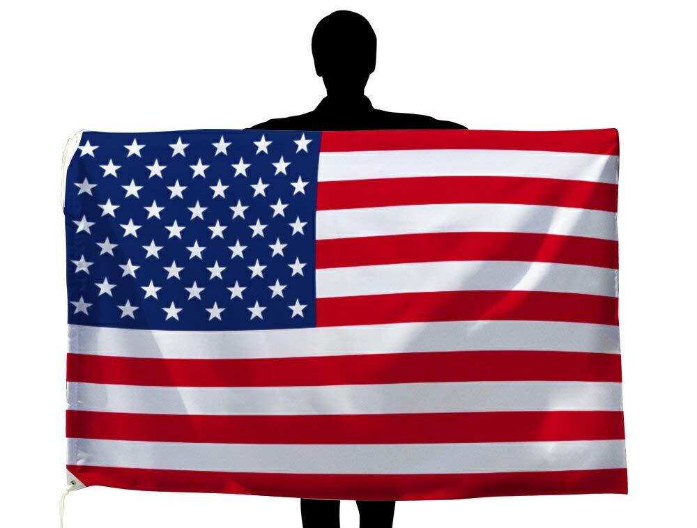 世界の国旗 アメリカ 国旗 [100×150cm 高級テトロン製]   B0090ZYL1A