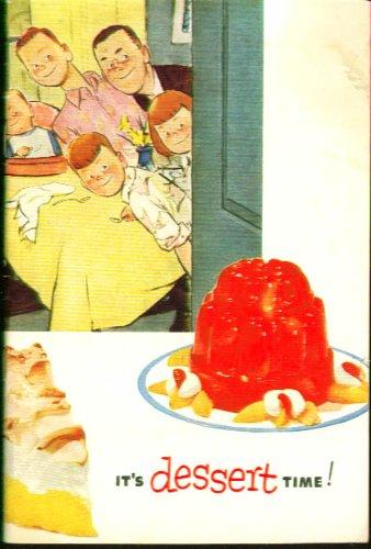 Jell-O & Pudding Dessert Time Recipe booklet 1952 Jello Pudding Desserts