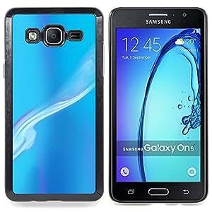 /Skull Market/ - Blue Smoke Sky Abstract Painting Art For Samsung Galaxy On5 SM-G550FY G550 - Mano cubierta de la caja pintada de encargo de lujo -