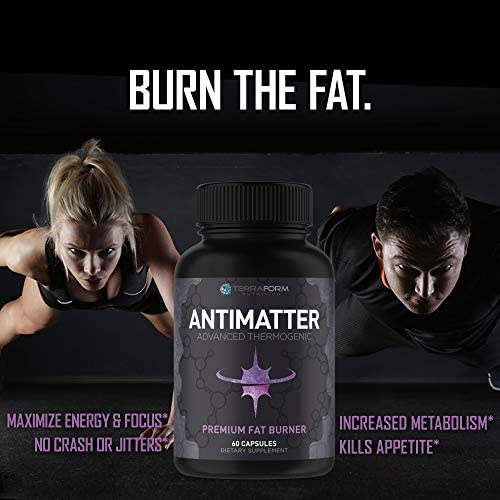 Premium Thermogenic Fat Burner, Weight Loss Supplement – Antimatter – Suppresses Appetite, Increases Metabolism & Boosts Energy – Made in USA – 1 Month 2