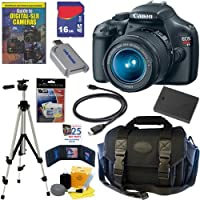 Canon EOS Rebel T3 12.2 MP CMOS Digital SLR Camera with EF-S 18-55mm f/3.5-5.6 IS II Zoom Lens + 16GB Deluxe Accessory Kit from Canon