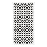 OxOHome Custom Bath Towel Quick Dry Absorbent Towels Spa Shower Wrap for College Dorms, Gyms, Locker Rooms, 27.5 x 55 inch - Modern Geometric Pattern Black And Beige