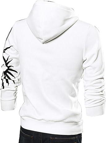 Fubotevic Mens Pullover Loose Fit Color Block Casual Long Sleeve Hooded Hoodie Sweatshirt Coffee US 2XL