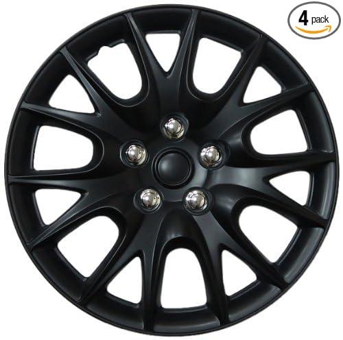 Drive Accessories KT-950-15MBK, Chrysler Turisma, 15' Matte Black Replica Wheel Cover, (Set of 4) 15 Matte Black Replica Wheel Cover Kuan Tong KT950-15MBK