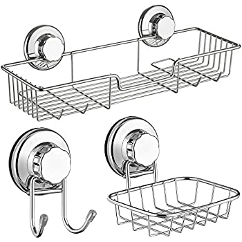 Amazon Com Sanno Bathroom Shower Caddy Bath Shelf Storage Combo