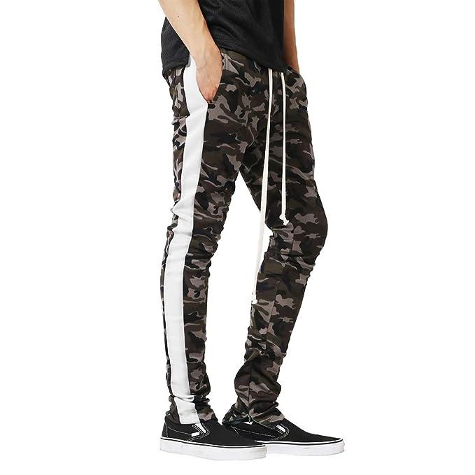 Pantalons De Sport pour Femmes Slim Camouflage Imprimer Couleur  Correspondant Fermeture À Glissière Cheville Casual Pantalons 17e2d39fe5a3