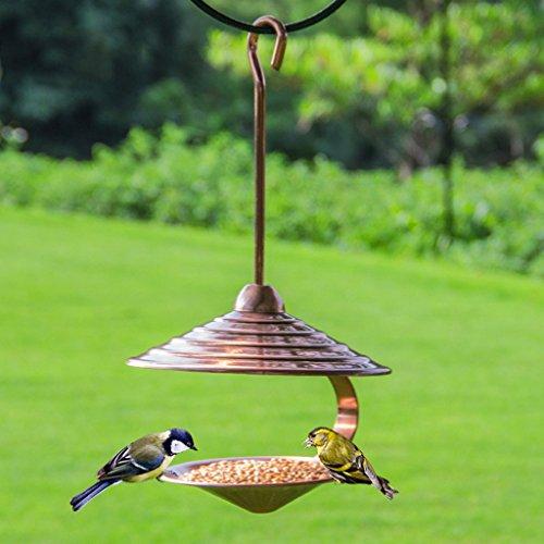 Colgando Al Aire Libre Comedero Para Pájaros Metal Automático Alimentación Perfecto Para Jardín Decoración Y Pájaro...