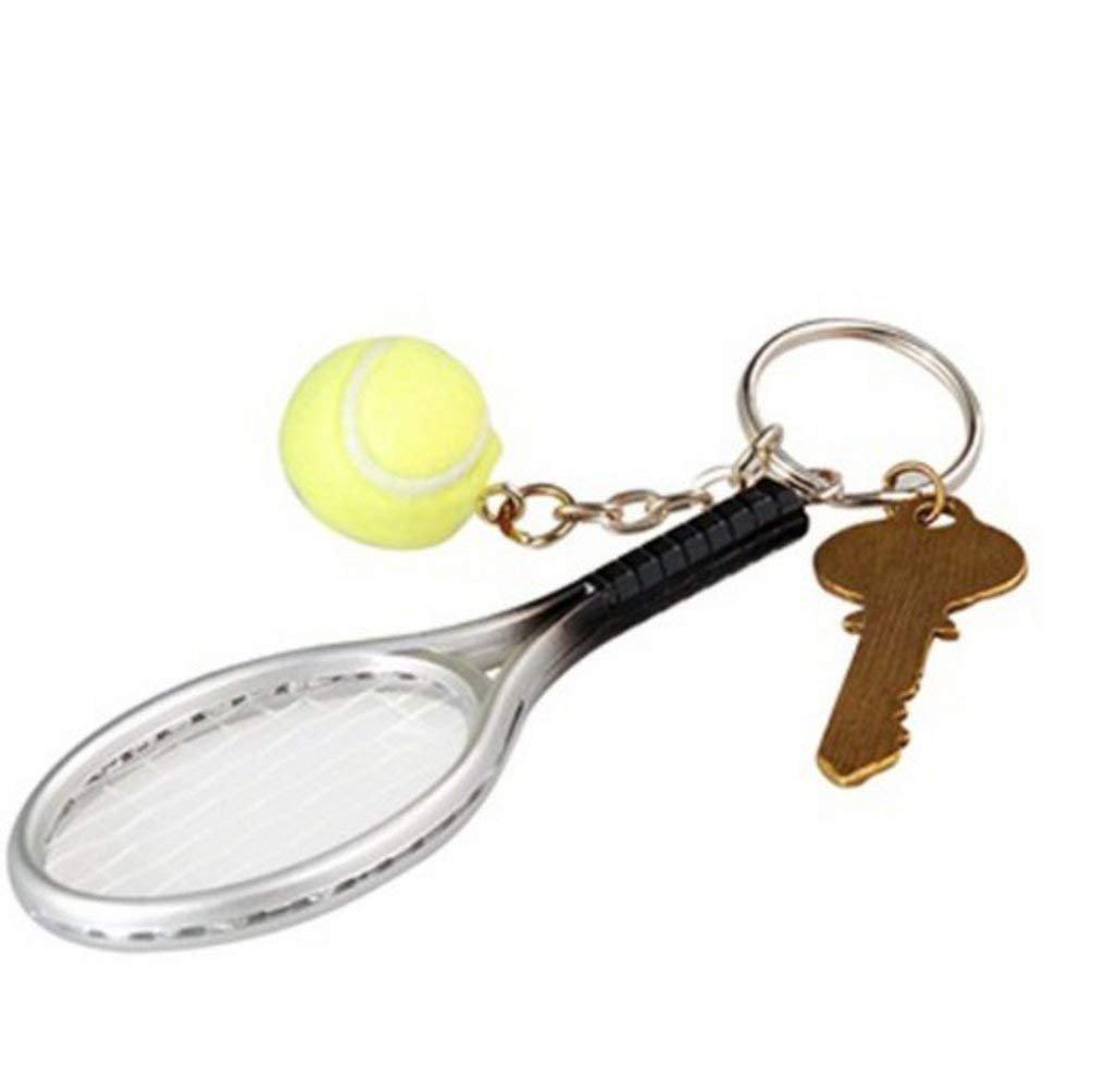 Porte-cl/é moul/ée Balle de Tennis Porte-clefs pour Les Amateurs de Sport NaiCasy Mini Raquette de Tennis avec Porte-cl/é en Alliage cr/éatif