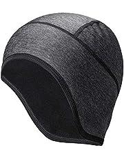 ROCKBROS Winter Cycling Skull Cap Men Windproof Thermal Helmet Liner Earflap Motorcycle Running Hat Black