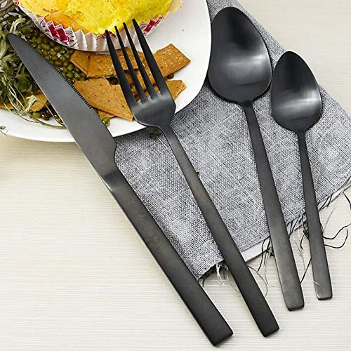 Dinnerware Sets - 30set 4pcs Set Black Western Food Stainless Steel Cutlery K Dinnerware Set 4 Piece Suit Za4984 - White Disposable Holiday Nautical Outdoor Beige Soho Vintage Usa Christmas