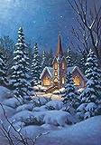 Toland Home Garden Snowy Steeple 28 x 40 Inch Decorative Winter Snow Christmas Church House Flag