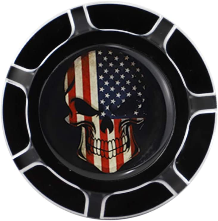 Chrome GUAIMI CNC Aluminum Fuel Gas Tank Oil Cap For Harley Davidson Sportster XL 1200 883 X48 Dyna Glued American Skeleton