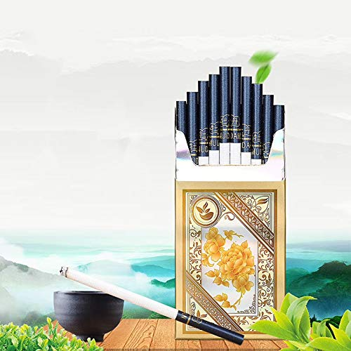 HUWOYMX Green Tea Menthol Cigarettes, Peony Jasmine?Chinese Herbal Cigarettes are Smoke-Free, Nicotine-Free, A Substitute for Cigarettes That Can Clean The Lungs (1 Pack,White Peony)