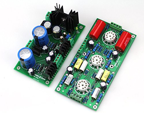 PRT-07A Hifi Tube preamplifier (no tube) + Power supply board /base on M7 preamp by JINGLUYAO