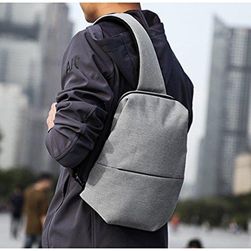 Bandolera Bandolera Hombre Desechable Bag Simple Mochila Para Mochila Messenger Lienzo Para Sling PANGOIE Hombre Gray Casual Sport Bandolera Bag qYFwxt